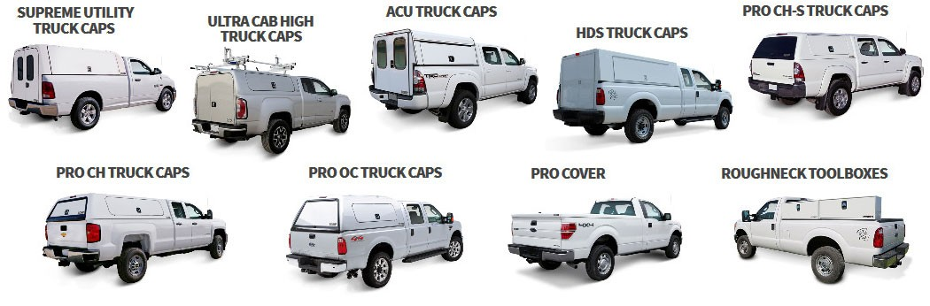 9 different types of trucks listed in a grid