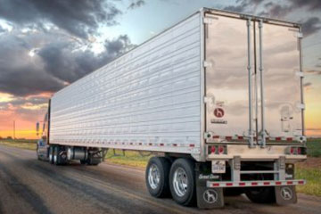 Large semi-truck 18 wheeler on the road