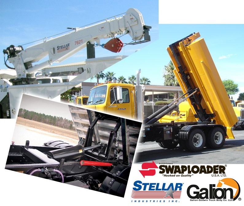 crane collage - Hook Loaders, Cranes & Hoists
