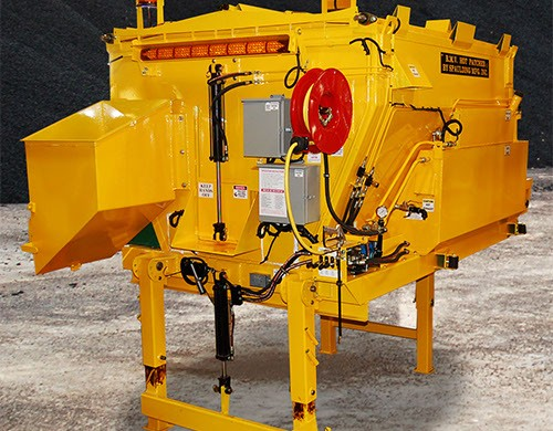 Large yellow piece of metal equipment