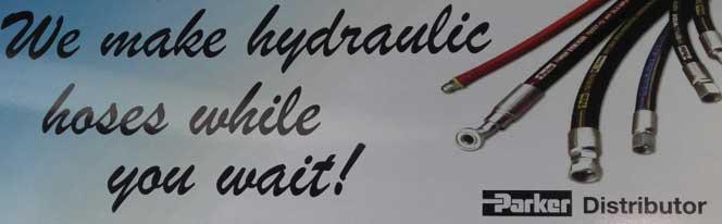 We make hydraulic hoses while you wait!