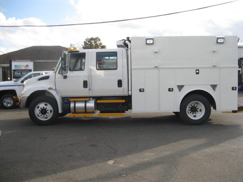 Side view of utlity truck