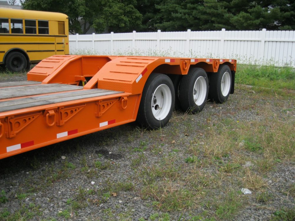 Tail end of orange Towmaster Trailer
