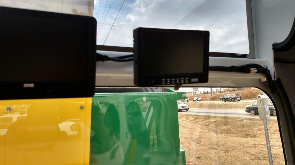 Piece of equipment inside truck