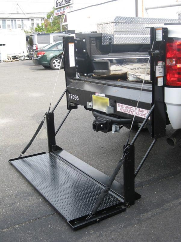 Liftgate on back on truck