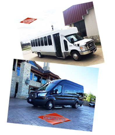 Diamonds black and white buses