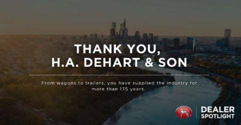 Thank you H.A. DeHart & Sons